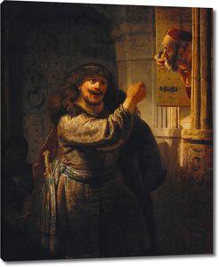 Рембрандт. Самсон угрожает своему отцу