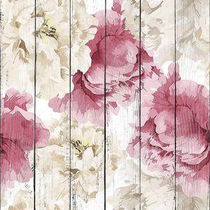 Цветочный узор с розовыми и белыми пионами