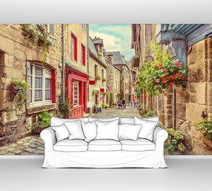 Вид на переулок в старом городе Европы