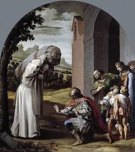 Висенте Кардучо. Смирение графа Гийома II Неверского