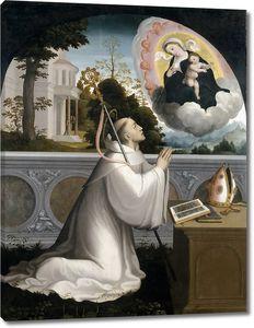 Корреа де Вивар Хуан. Явление Богородицы святому Бернарду