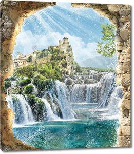Дорога из водопадов к замку