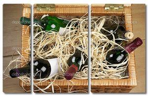 Корзина для пикника с вином