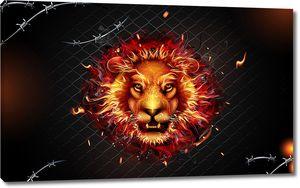 Огненная голова льва