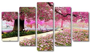Розовый лес
