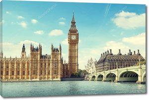 Солнечный день в Лондоне, вид на Биг Бен