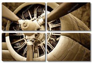 старый самолет