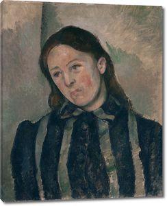Поль Сезанн. Мадам Сезанн с распущенными волосами