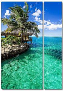 Тропические Вилла и пальмовое дерево рядом с Зеленая Лагуна