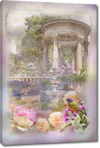 Композиция Птица в саду