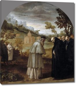 Кардучо Висенте. Святой Юг, уезжая в Рим, прощается со св Бруно
