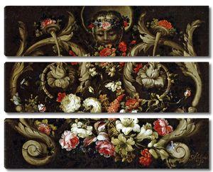 Габриэль де ла Корте. Маска с цветами