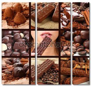 шоколадный коллаж