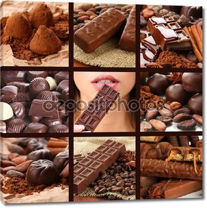 Шоколадный коллаж из изделий
