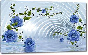 Своды с розами над водой