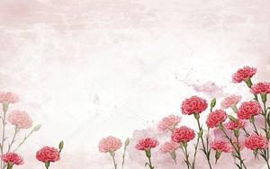 Легкий фон гранж с розовыми гвоздиками