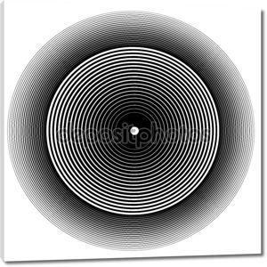 Абстрактный черный круг