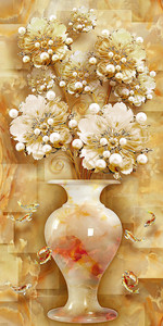 Цветы в вазочке из агата