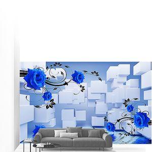 Нагромождение кубов и цветы