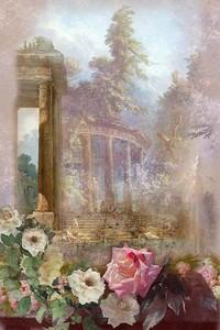 Розы на фоне архитектуры