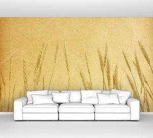 Пшеничные колосья на гранжевом фоне