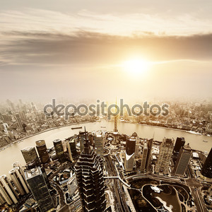 Вид на Шанхай сверху