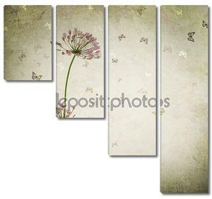 Красивые старинные цветочный фон