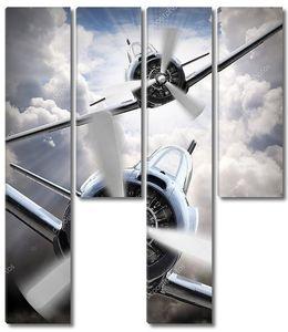 Бой самолетов в небе