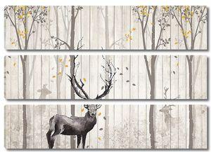 Забор с оленем