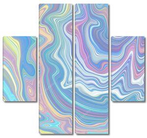 Пастельный голографический фон