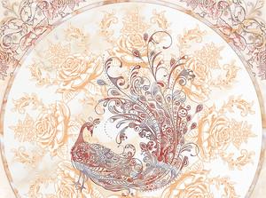 Павлин в цветочном орнаменте