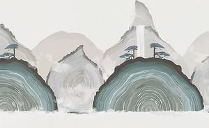 Сопки абстрактными формами