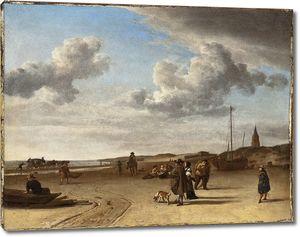 Ван де Вельде Адриан. Морской берег в Схевенингене