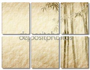 Бамбук на старых гранж античные Бумажные текстуры