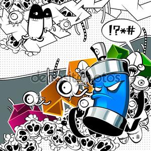 Странные граффити изображение