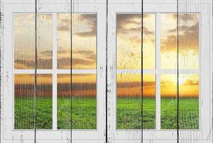 Прекрасный вид из окна закрыты