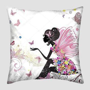 Цветочная фея в облаке бабочек
