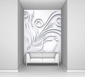 красивые цветочные Белый 3d фон