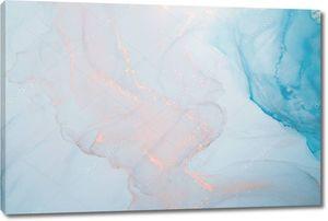Мраморный. Мраморная фактура. Всплеск краски. Красочная жидкость. Абстрактный цветной фон. Растровая иллюстрация. Красочный абстрактный фон. Высокотекстурированная масляная краска. Высокое качество деталей .