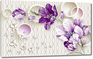 Раскрытые тюльпаны с кольцами