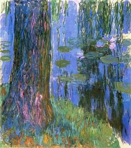 Моне Клод. Плакучая Ива и пруд с кувшинками, 1916-19 01