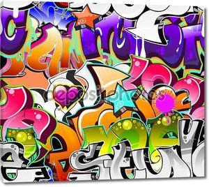 Граффити с различными надписями