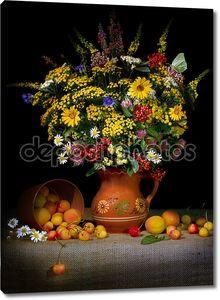 Натюрморт. Букет из полевых цветов.
