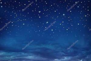 Ночное небо со звездами