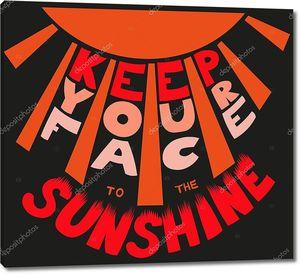 держите лицо на векторе солнечного света;