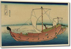 Кацусика Хокусай. Морской путь в Кадзусу