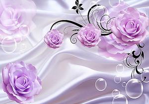Розы на атласе