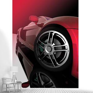 Диски красного автомобиля