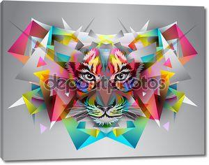 Иллюстрация абстрактные художественные Тигр.