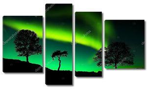 Северное зеленое сияние